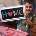 One of our first homeschooling projects for E's Kindergarten year.